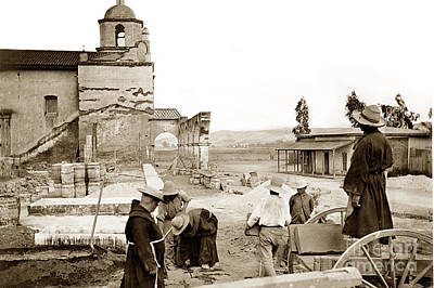 Photograph - Mission San Luis Rey De Francia Is A Former Spanish Mission Circa 1904 by California Views Archives Mr Pat Hathaway Archives