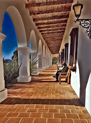 Mission San Luis Rey Digital Art - Mission San Luis Rey by Karyn Robinson