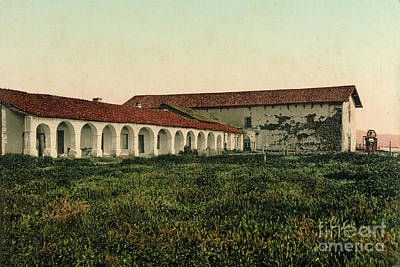 Photograph - Mission San Miguel Arcangel, San Luis Obispo County Circa 1900 by California Views Archives Mr Pat Hathaway Archives