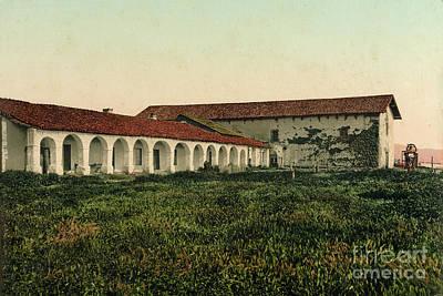 Photograph - Mission San Miguel Arcangel, San Luis Obispo County Circa 1900 by California Views Mr Pat Hathaway Archives
