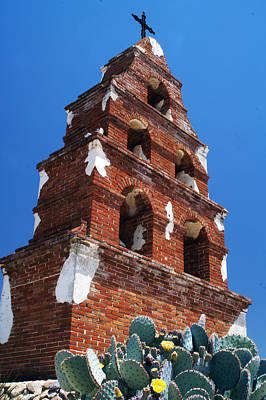 Photograph - Mission San Miguel Bell Tower by Gary Brandes