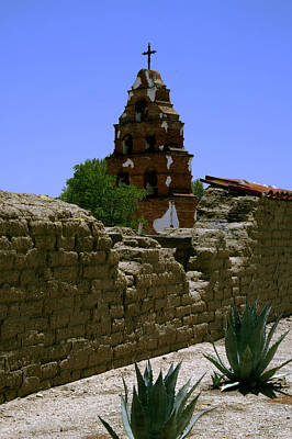 Photograph - Mission San Miguel Bells 2 by Gary Brandes