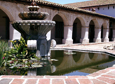 Photograph - Mission San Miguel Fountian 2 by Gary Brandes