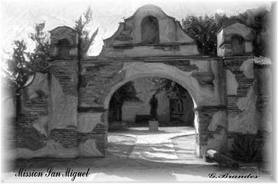 Photograph - Mission San Miguel by Gary Brandes