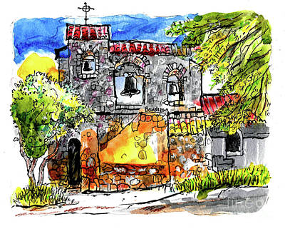 Painting - Mission San Miguel by Terry Banderas