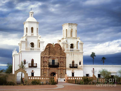 Mission San Xavier Del Bac Art Print by Donna Greene