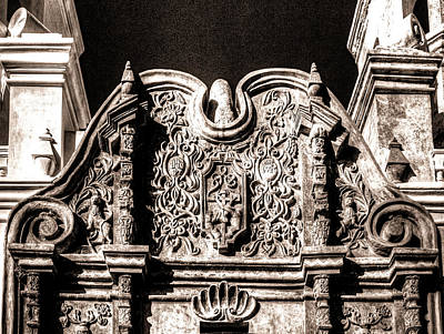Photograph - Mission San Xavier Del Bac Facade Detail by Roger Passman