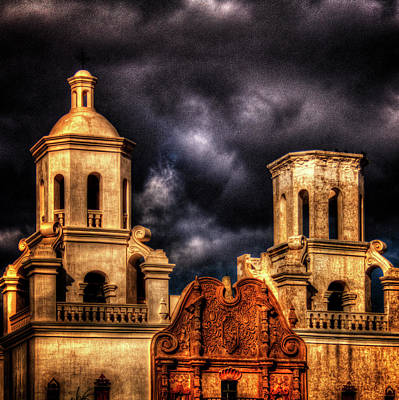 Photograph - Mission San Xavier Del Bac by Roger Passman