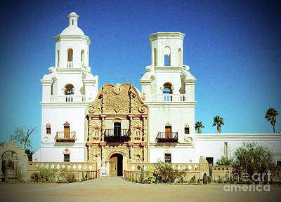 Photograph - Mission San Xavier Del Bac Tucson Arizona by Debby Pueschel