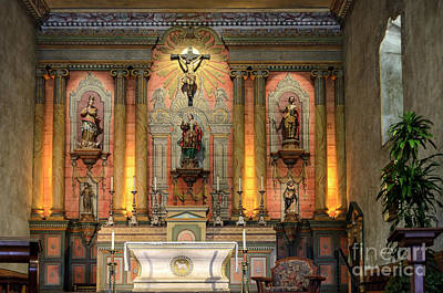 Photograph - Mission Santa Barbara Altar by RicardMN Photography