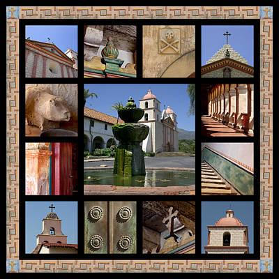 Mission Santa Barbara Art Print by Art Block Collections