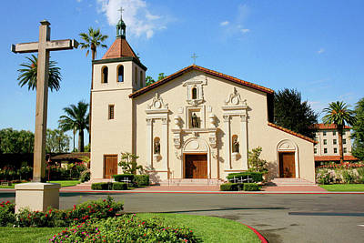 Mission California Photograph - Mission Santa Clara by Art Block Collections