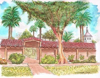 Mission Santa Clara De Asis, California Art Print