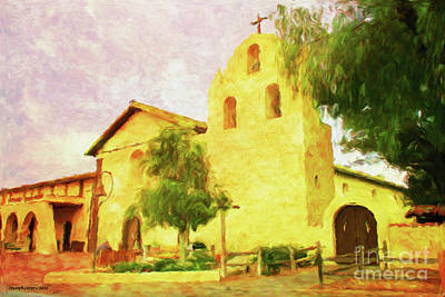 Mission Santa Ynez Solvang Art Print