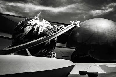 Mission Space Black And White Original by Eduard Moldoveanu