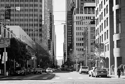 Photograph - Mission Street Embarcadero View - Black And White by Matt Harang