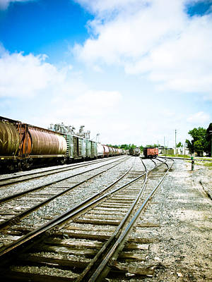 Winnipeg Photograph - Mission Street Train Yard by Michael Knight