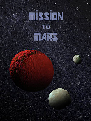 Digital Art - Mission To Mars Poster by M Spadecaller