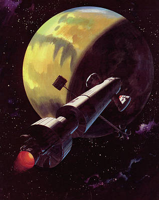 Space Exploration Painting - Mission To Mars by Wilf Hardy