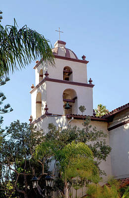 Photograph - Mission Ventura Bell Tower by Art Block Collections