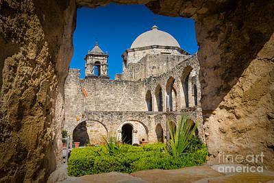San Antonio Photograph - Mission Window by Inge Johnsson