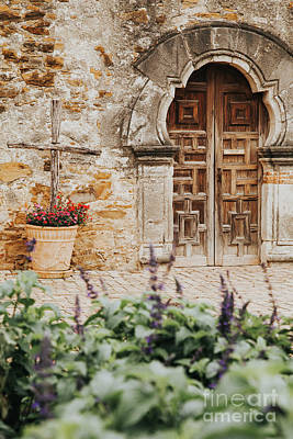 Photograph - Mission Wooden Door by Iris Greenwell