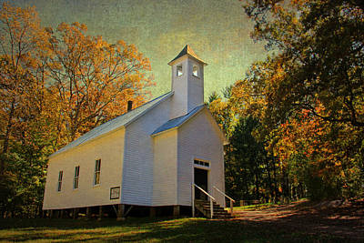Appalachia Photograph - Missionary Baptist Church - Cades Cove Tn by HH Photography of Florida
