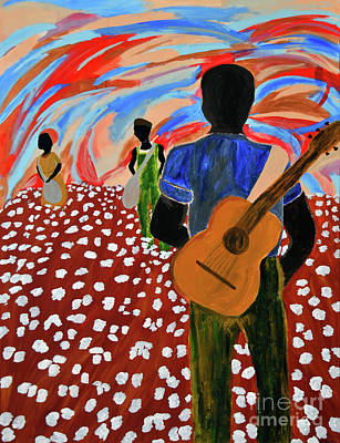 Painting - Mississippi Blues by Kafia Haile
