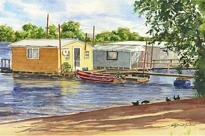 Painting - Mississippi Boathouses by Phyllis Martino