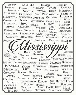 State Of Mississippi Digital Art - Mississippi by Finlay McNevin