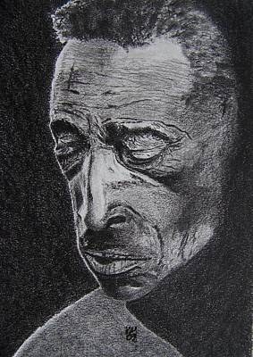 African-american Drawing - Mississippi Fred by Nick Young