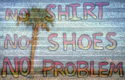 Photograph - Mississippi Gulf Coast No Shirt No Shoes No Problem by JC Findley