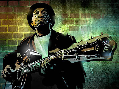 Mississippi John Hurt Art Print by Paul Sachtleben