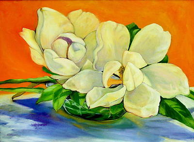 Painting - Mississippi Magnolias by Jeanette Jarmon