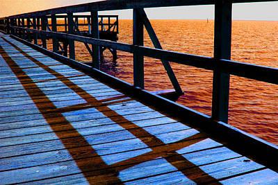 Photograph - Mississippi  Pier - Ver 1 by William Meemken