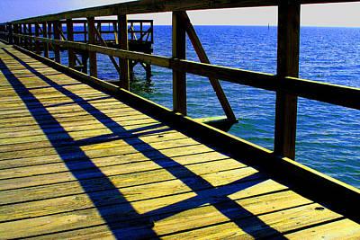 Photograph - Mississippi  Pier by William Meemken