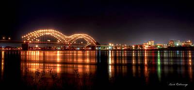 Mississippi Reflections De Soto Or M Bridge Memphis Tn Art Print by Reid Callaway