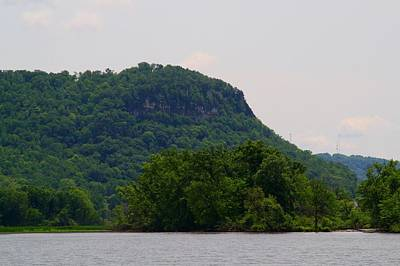 Photograph - Mississippi River Bluffs by Kathryn Meyer