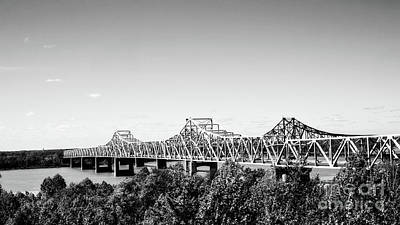 Photograph - Mississippi River Bridge - Vicksburg by Scott Pellegrin