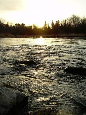 Mississippi River Dawn Reflection Art Print by Kent Lorentzen