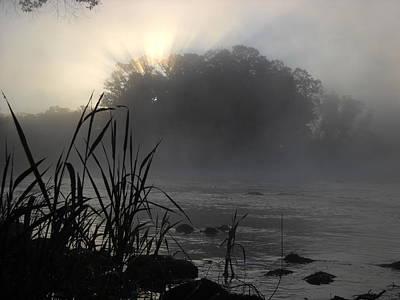 Photograph - Mississippi River Dawn Sun Rays by Kent Lorentzen