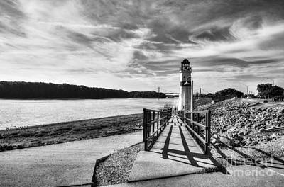 Photograph - Mississippi River Daydreams Bw by Mel Steinhauer