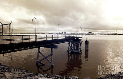 Photograph - Mississippi River Dock Infrared by John Rizzuto