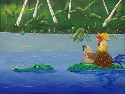 Mississippi River Drifter Art Print