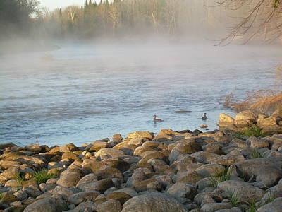 Photograph - Mississippi River Duck Duck Dawn by Kent Lorentzen
