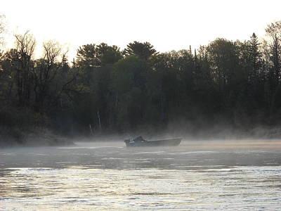 Photograph - Mississippi River Fisherman At Dawn by Kent Lorentzen