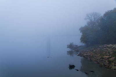 Photograph - Mississippi River Fog by Garry McMichael