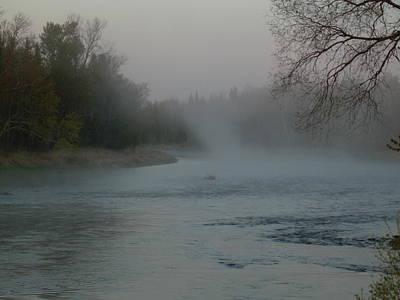 Photograph - Mississippi River Fog Swirls by Kent Lorentzen
