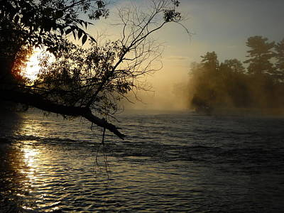 Photograph - Mississippi River Foggy June Sunrise by Kent Lorentzen
