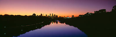 Mississippi River Scene Photograph - Mississippi River, Minneapolis, Sunset by Panoramic Images